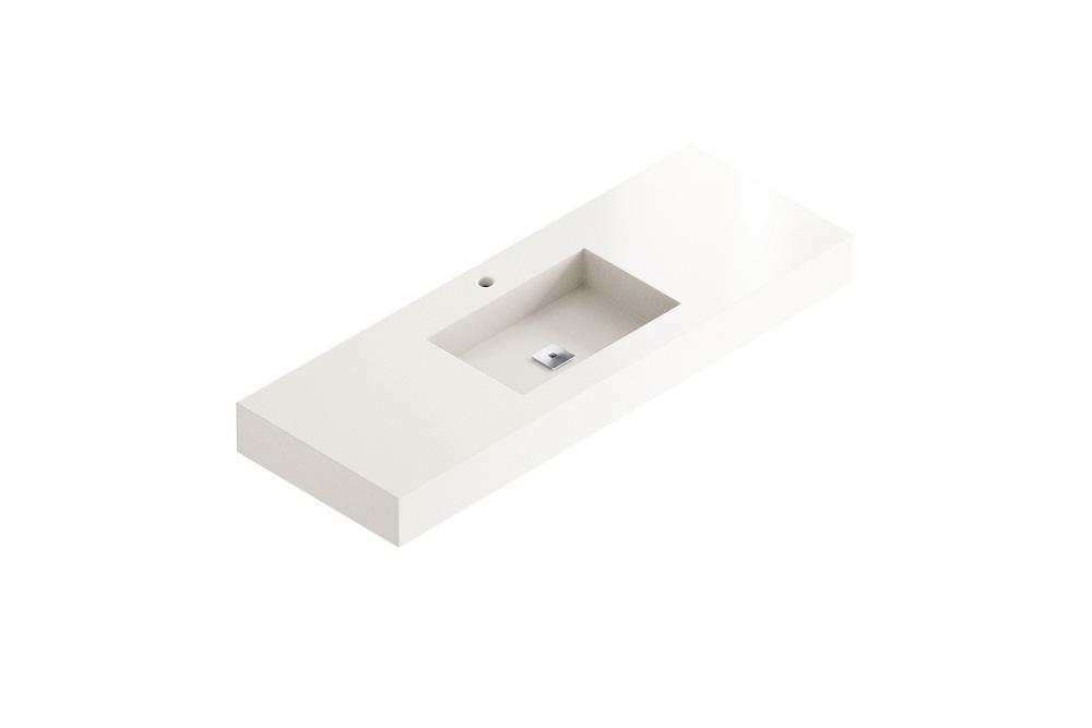 Designer bathrooms with unique materials  - Elegance Blanco Zeus 46