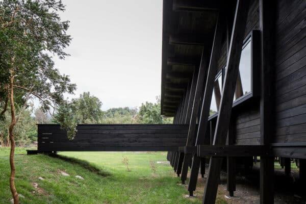 Courtyard House in Lake Ranco