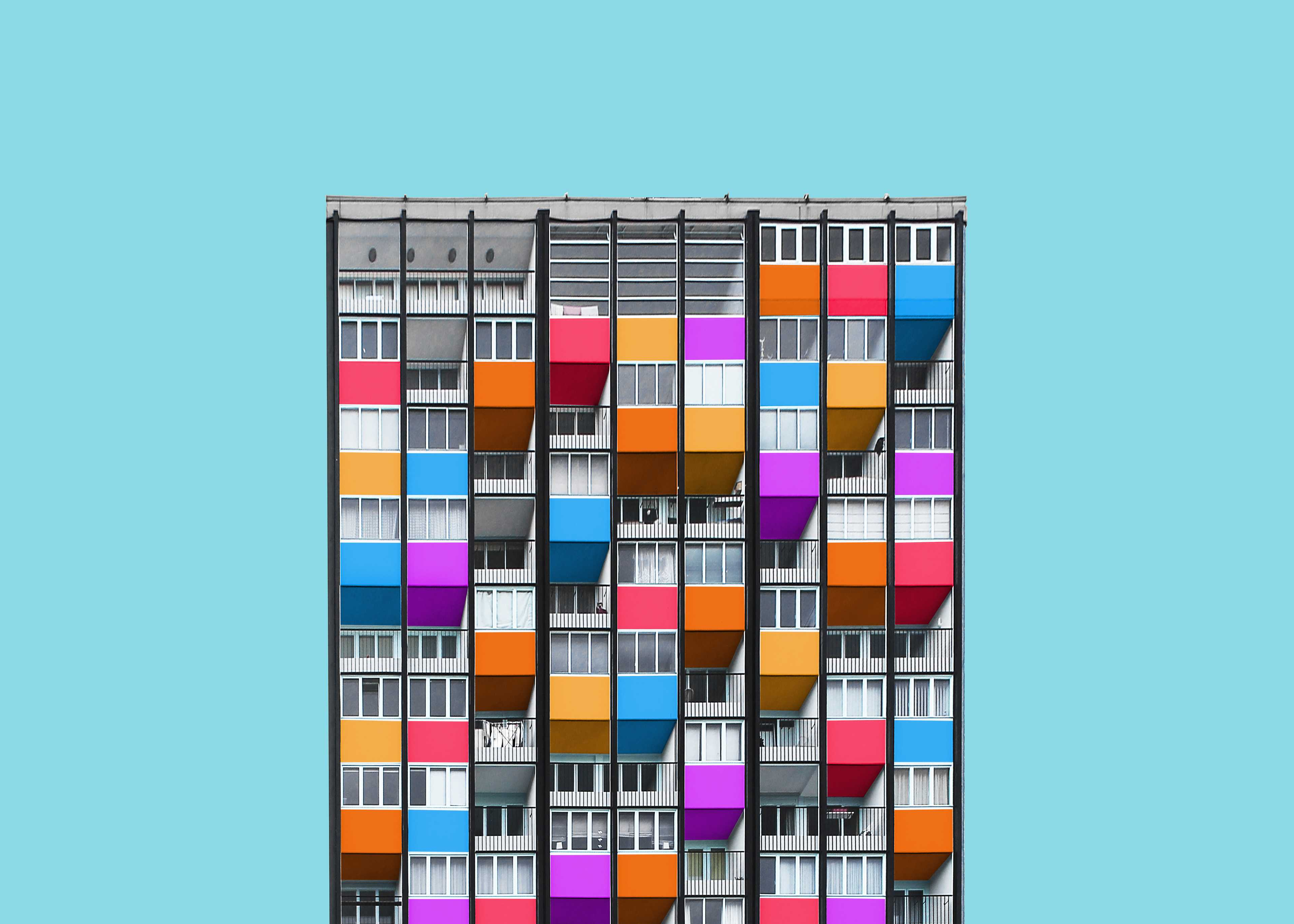 A Colorful Makeover of Architecture  - 59 99 55