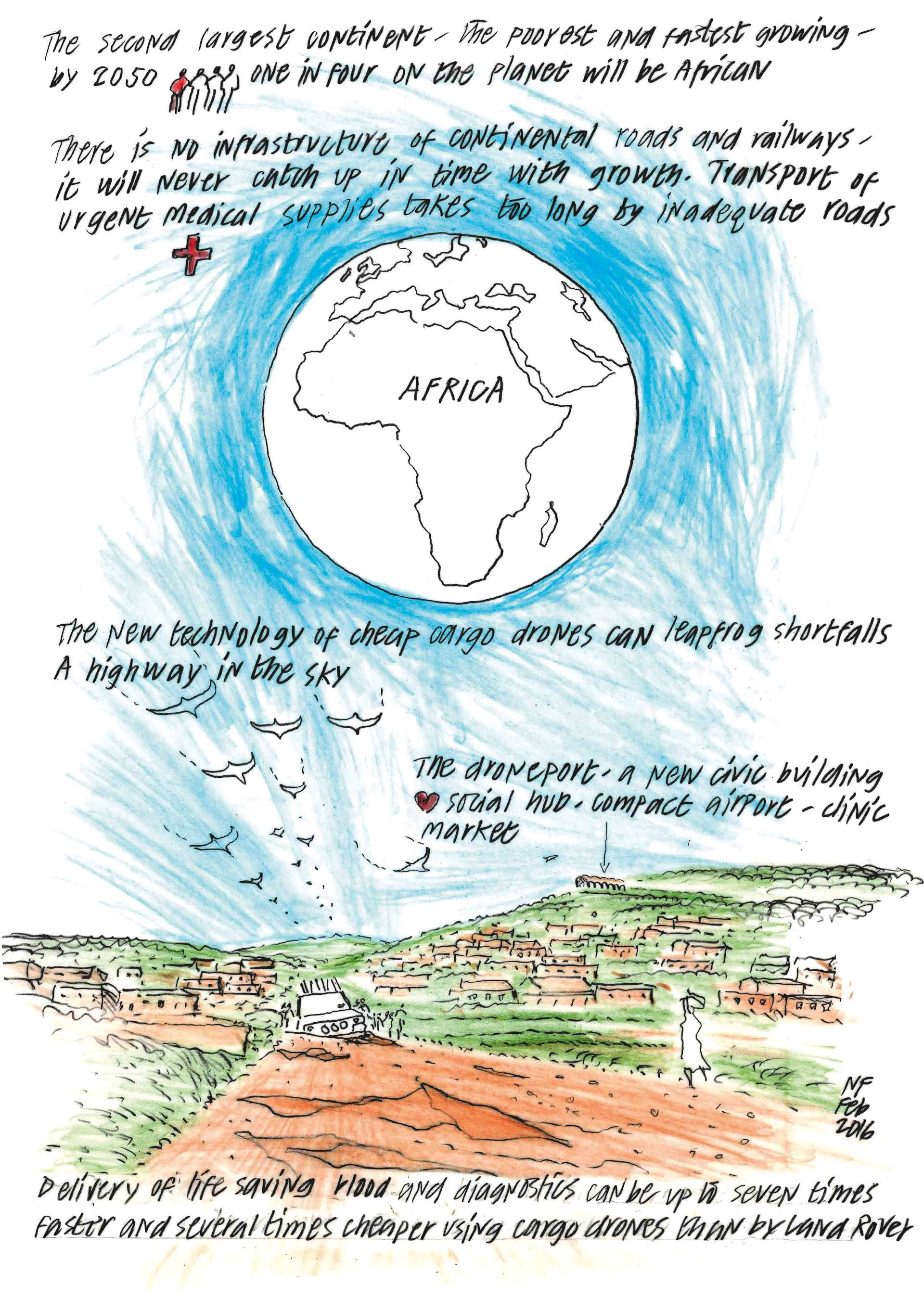 Drones for Africa  - Norman Foster Concept Sketch 1 30