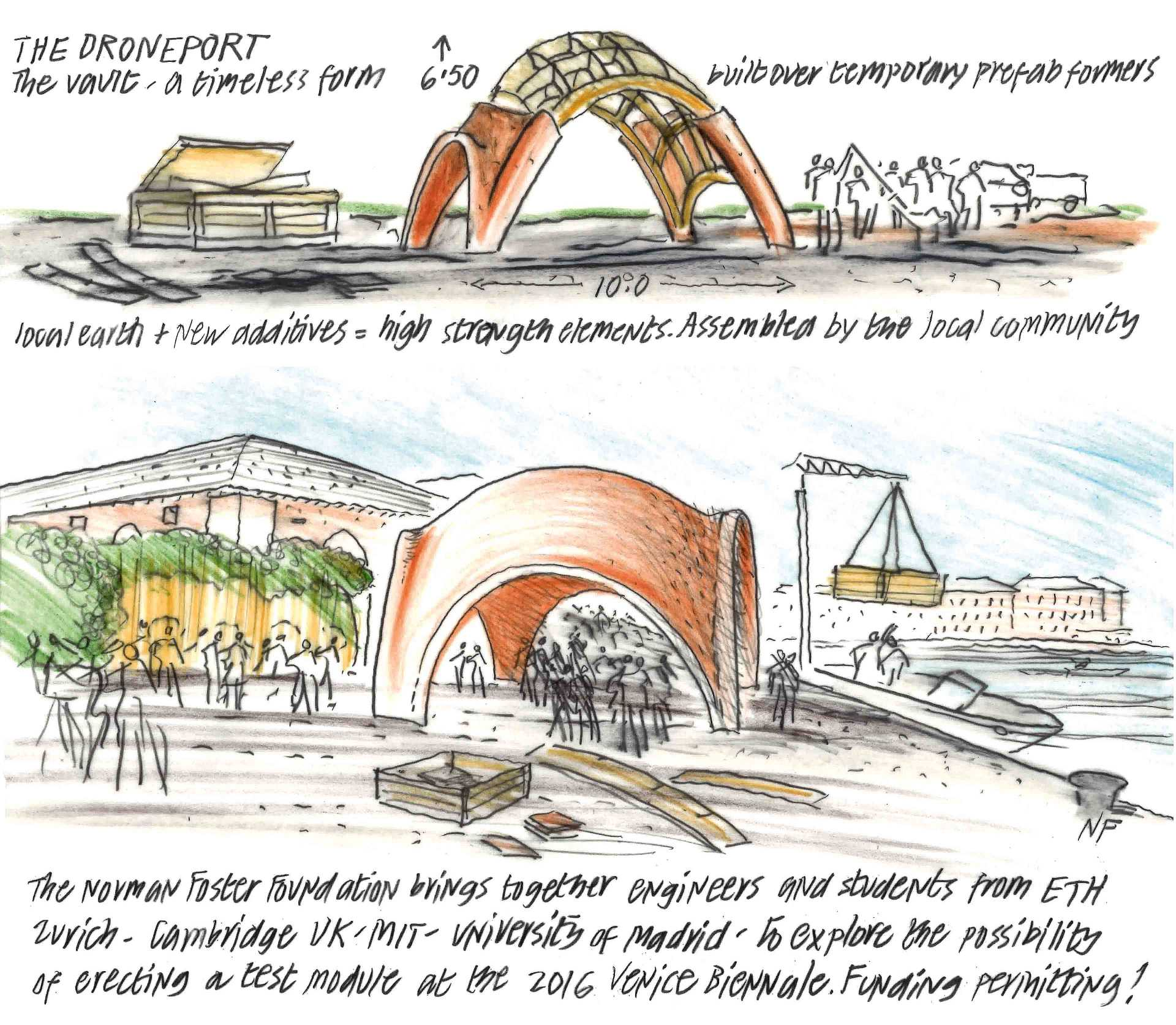 Drones for Africa  - Norman Foster Concept Sketch 2 34