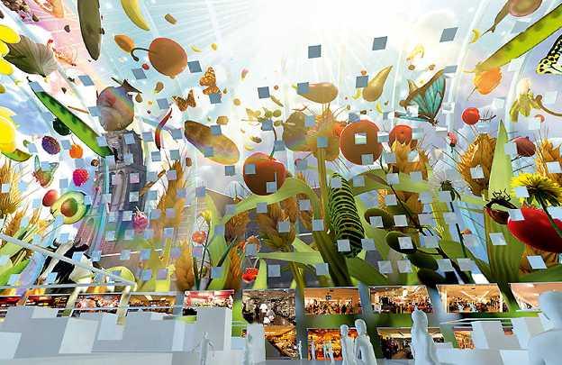 MVRDV, a New Market Concept  - arno coenen completes horn of plenty at rotterdam markthal designboom 11 42