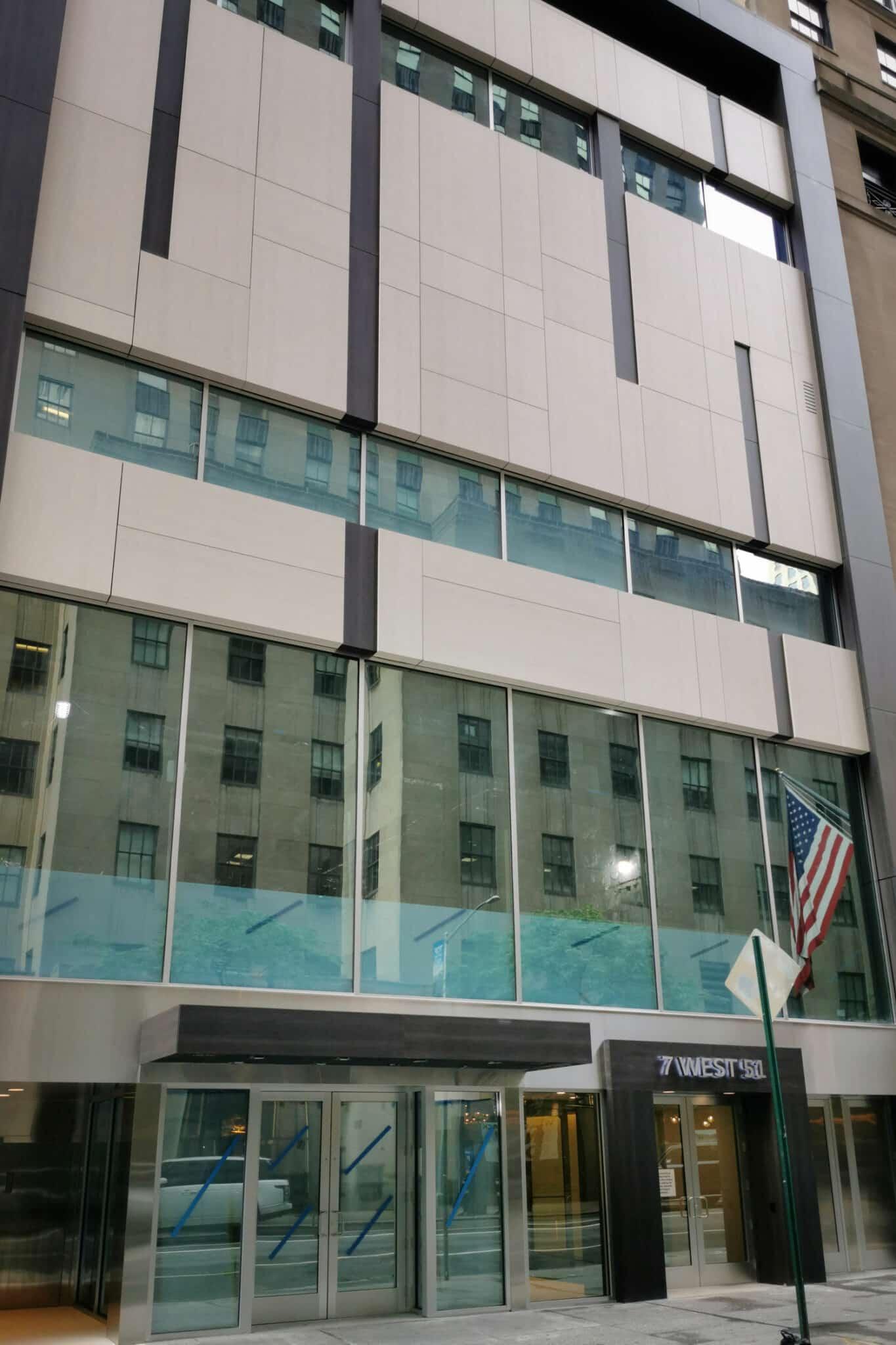Manhattan facade 7 West 51st  - Manhattan 51st 1 52