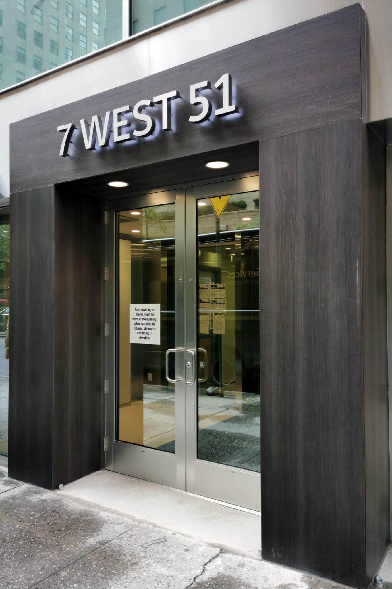 Manhattan facade 7 West 51st  - Manhattan 51st 6 56